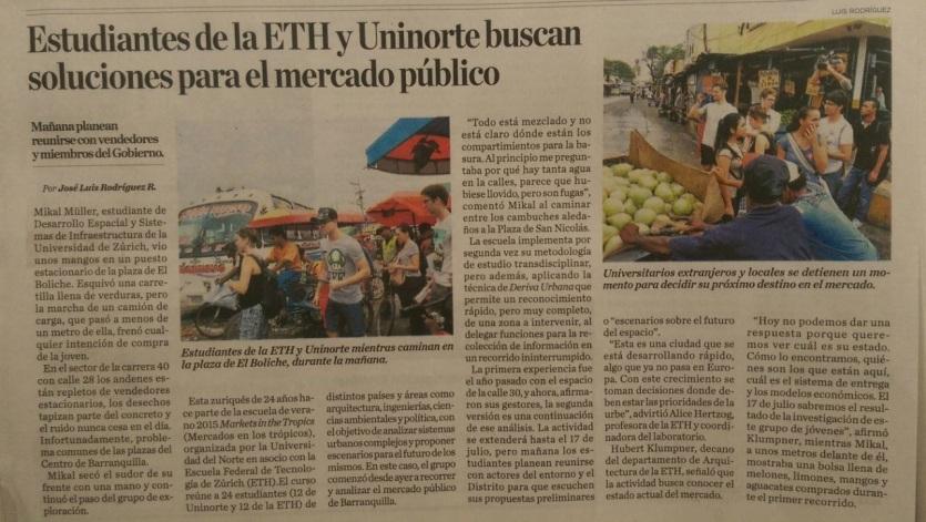 El Heraldo Article